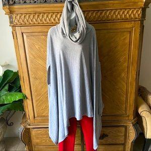 Forever 21 Gray Oversize cowl hooded cape
